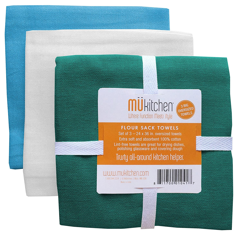 Amazon.com: MUkitchen 100% Cotton Oversized Flour Sack Towel ...
