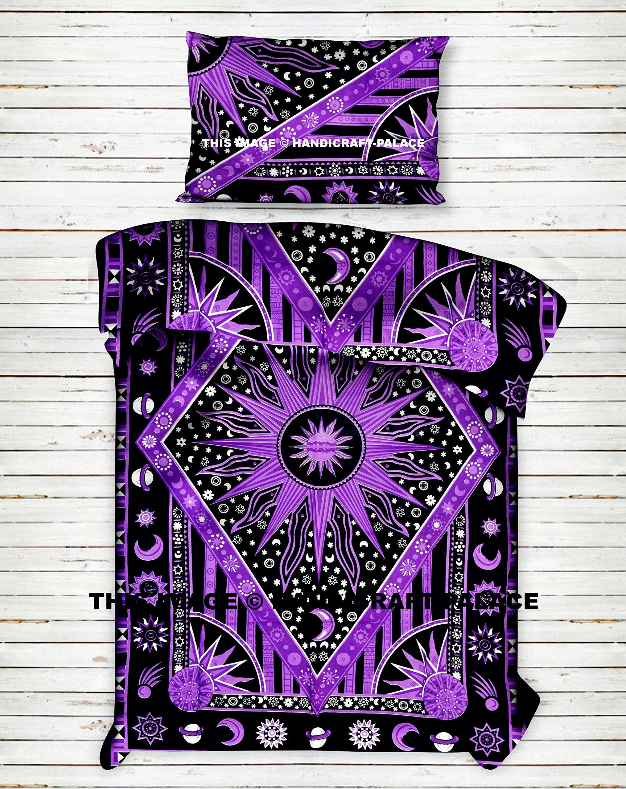 Burning Sun Indian Doona Duvet Cover Comforter Set Bohemain Cotton Handmade Quilt Cover Blanket Cover