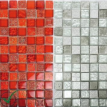Mosaikfliesen Georgia Glas Naturstein Mix | Wand Mosaik | Mosaik Fliesen |  Naturstein