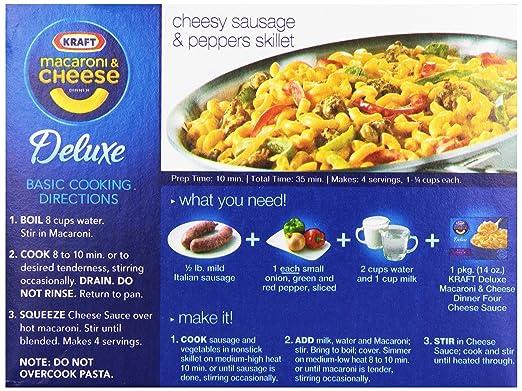 Amazon Kraft Macaroni Cheese Deluxe Cheddar Broccoli 116