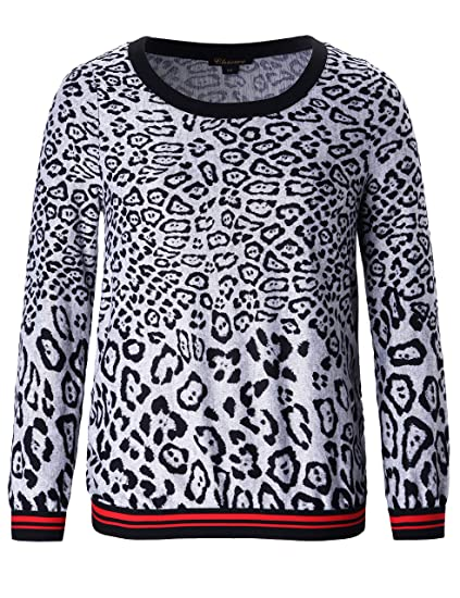 d46f81f37acbe Chicwe Women s Plus Size Stretch Pull on Printed Jumper Top 3X at ...