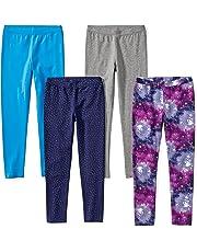 2150f142d8 Amazon Brand - Spotted Zebra Girls' Toddler & Kids 4-Pack Leggings
