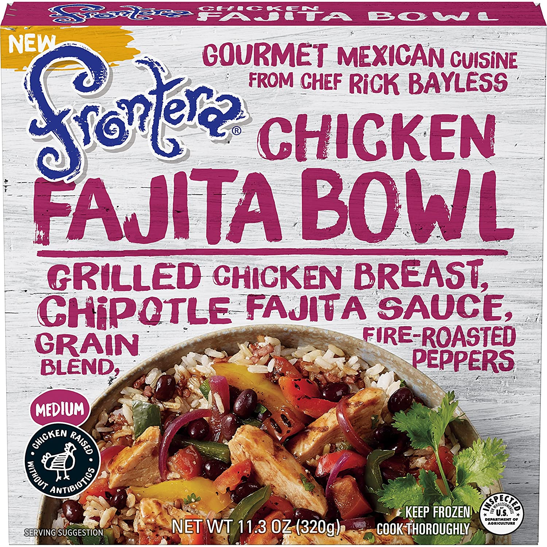 Frontera Chicken Fajita Bowl Frozen Meal Medium 11 3 Oz Amazon