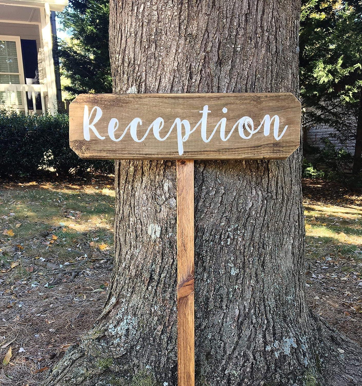 Amazon Com Reception Signs For Wedding Arrow Signs For Wedding Rustic Wedding Signs For Reception Handmade