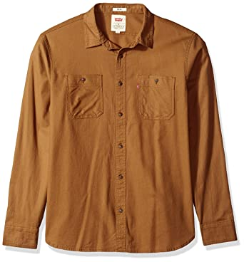 572b5147 Levi's Men's Morphe Long Sleeve Stretch Twill Shirt at Amazon Men's  Clothing store: