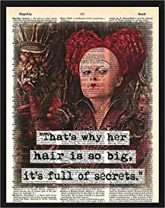 That's Why Her Hair is so Big, It's Full of Secrets Featuring The Queen of Hearts from Alice in Wonderland Wall Decor Mean Girls Dictionary Art 8 x 10
