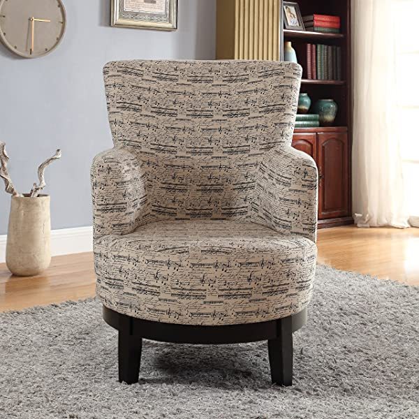 NHI Express 90024-27 Gianna Swivel Accent Chair, Regular