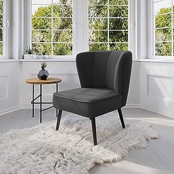 MyHomery Venlo Lounge Sessel Gepolstert   Polsterstuhl Für Esszimmer U0026  Wohnzimmer   Vintagesessel Ohne Armlehnen
