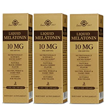 Image Unavailable. Image not available for. Color: Solgar – Liquid Melatonin 10 mg ...