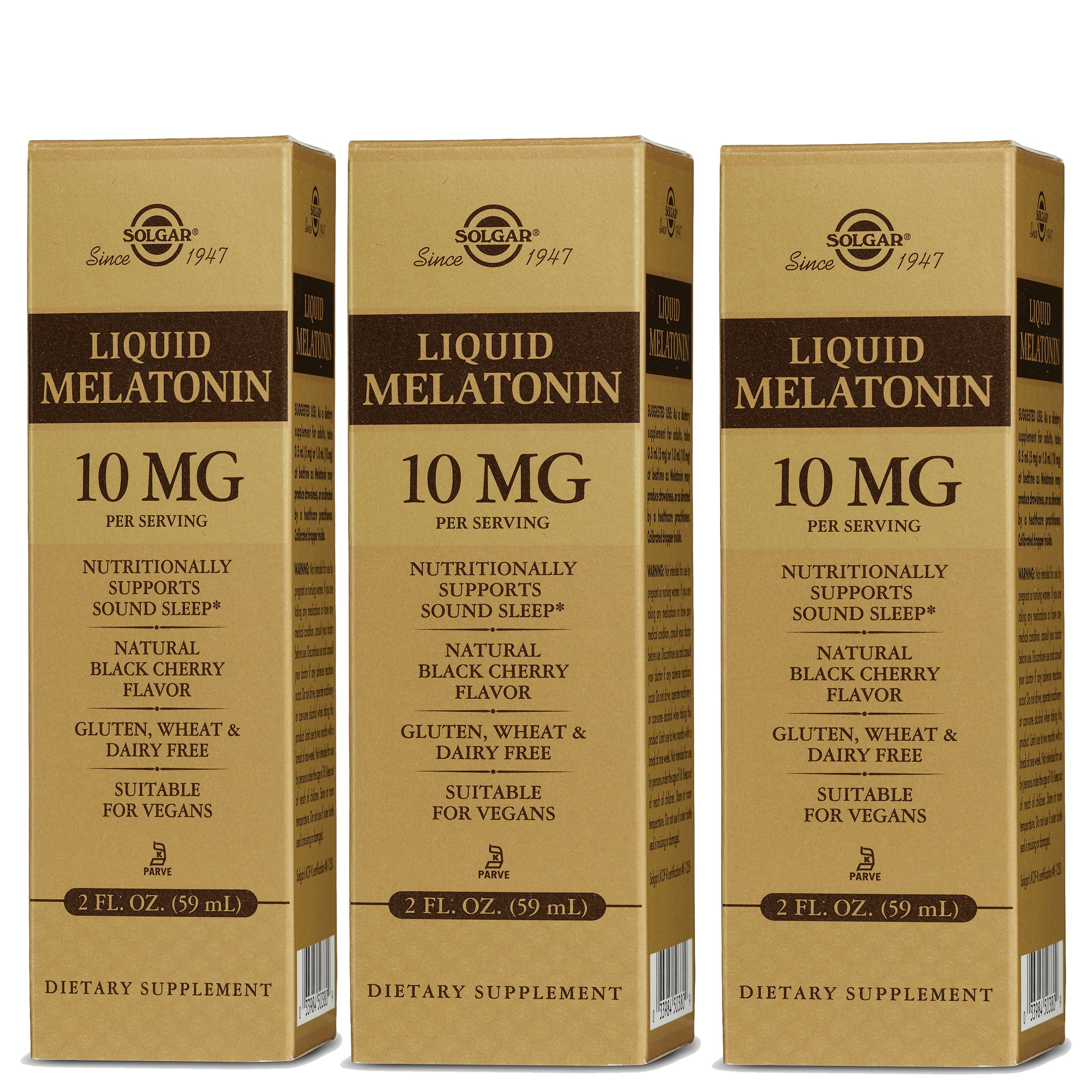 Amazon.com: Solgar – Liquid Melatonin 10 mg, 2 Oz, Natural Black Cherry Flavor (3 Bottles): Health & Personal Care