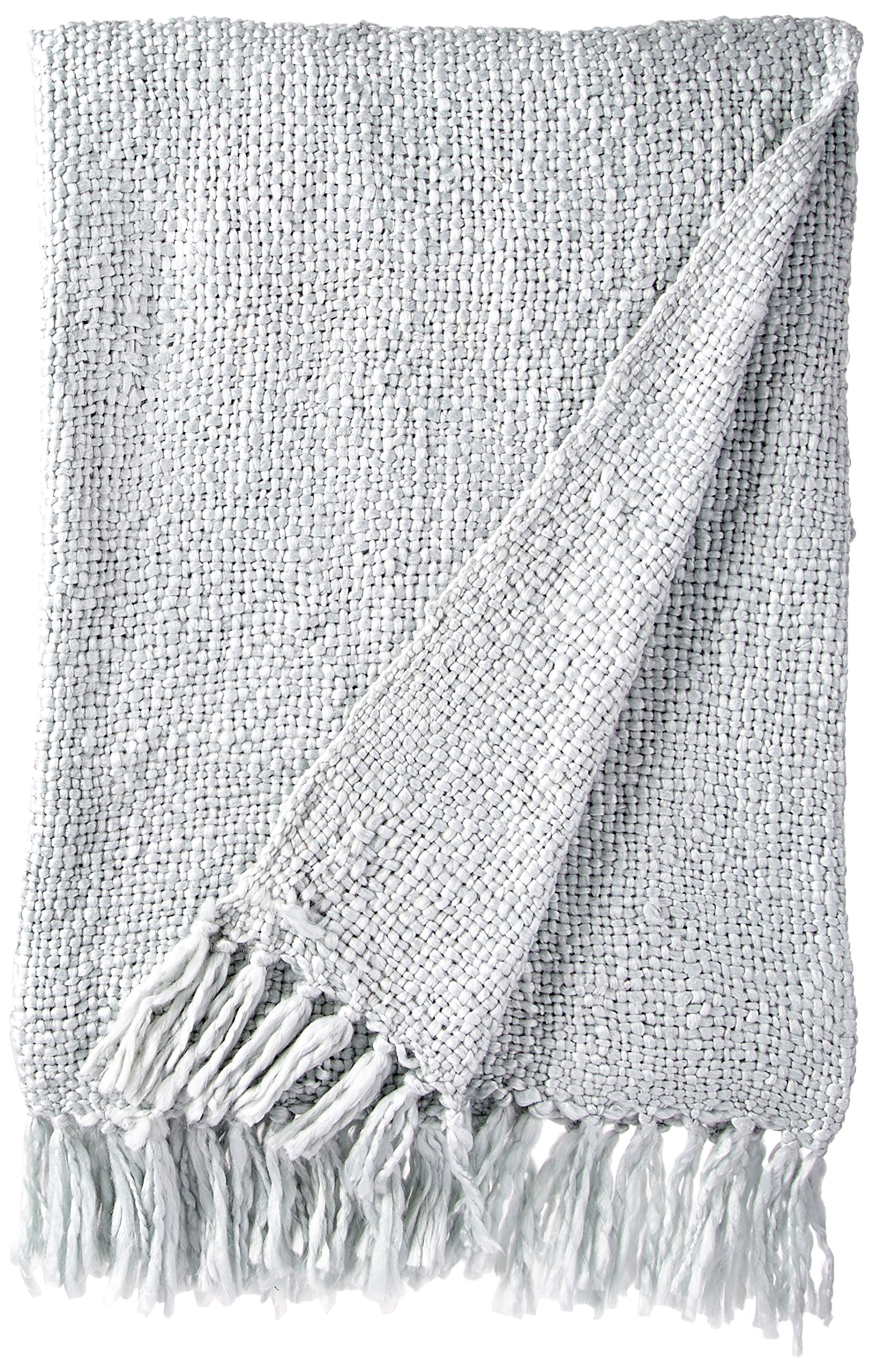 Rizzy Home TH-0113 Throw, 50 by 60-Inch, Spa Blue