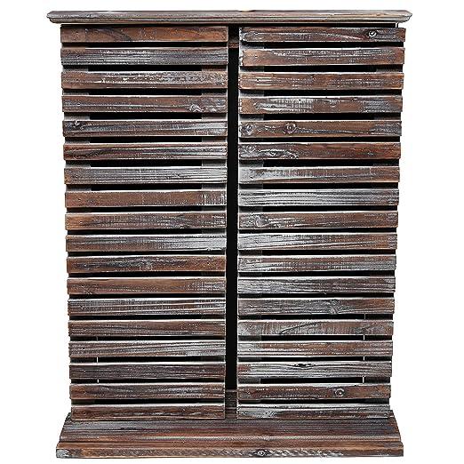 Pizarra de pared de madera rústica y vintage, con puertas ...