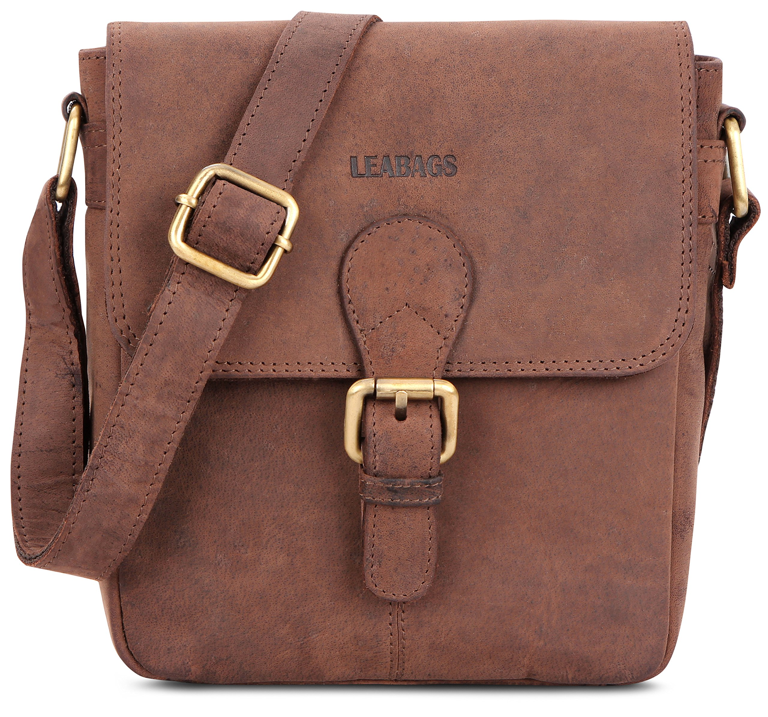 LEABAGS Weston genuine buffalo leather city bag in vintage style - Nutmeg by LEABAGS (Image #1)