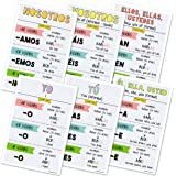 Spanish Verb Conjugation Classroom Variety Posters (Set of 6) 12 x 18 inches