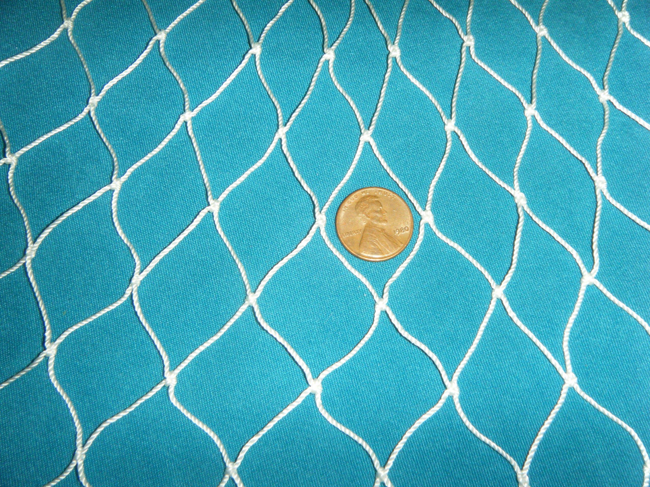 150 X 8 Fishing Net Netting Nautical Display Wedding Decor Garden Pond Birds by Florida Nets