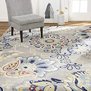 Home Dynamix Tremont Lincoln Transitional Area Rug, Floral Gray 21