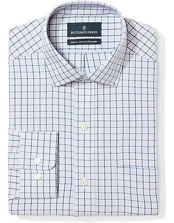 1a816b679745 BUTTONED DOWN Men's Classic Fit Check Dress Shirt, Supima Cotton Non-Iron
