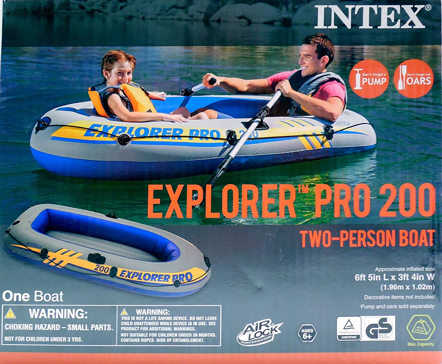 Amazon.com: Intex Explorer Pro 200 Dos Persona Barco – Barca ...