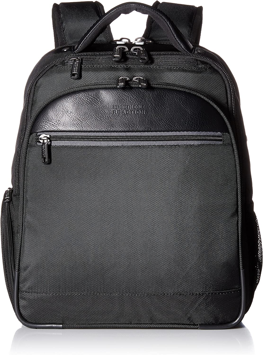 """Kenneth Cole Reaction 1680d Polyester Dual Compartment Expandable 14"""" Laptop Backpack, Black"""