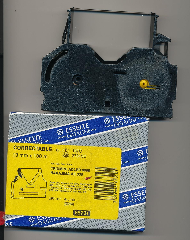 Esselte Correctable 187 C 13 mm x 100 m Máquina de escribir cinta Corrección: Amazon.es: Oficina y papelería