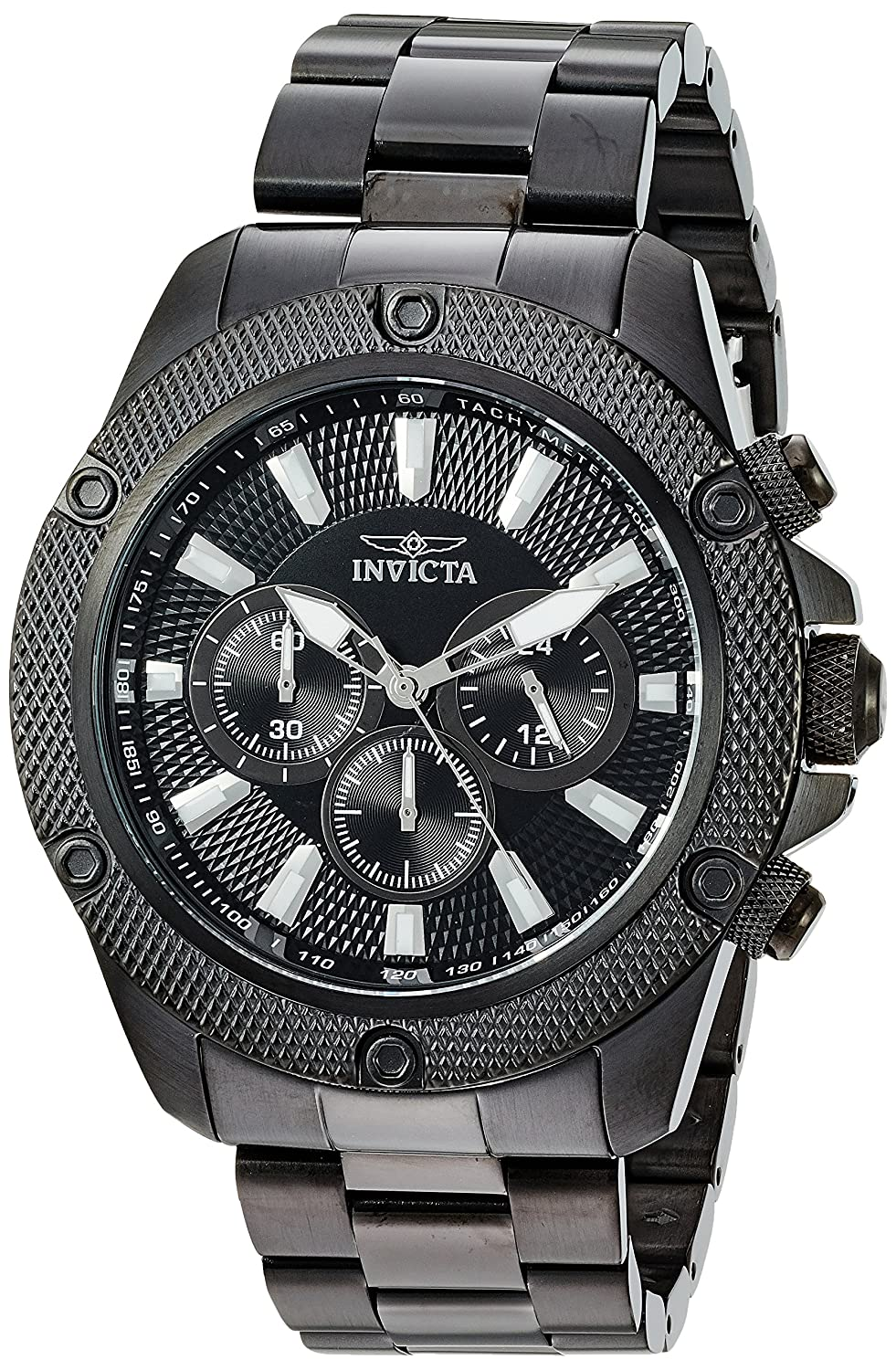Invicta Men s Pro Diver Quartz Watch with Stainless-Steel Strap, Black, 10 Model 22722