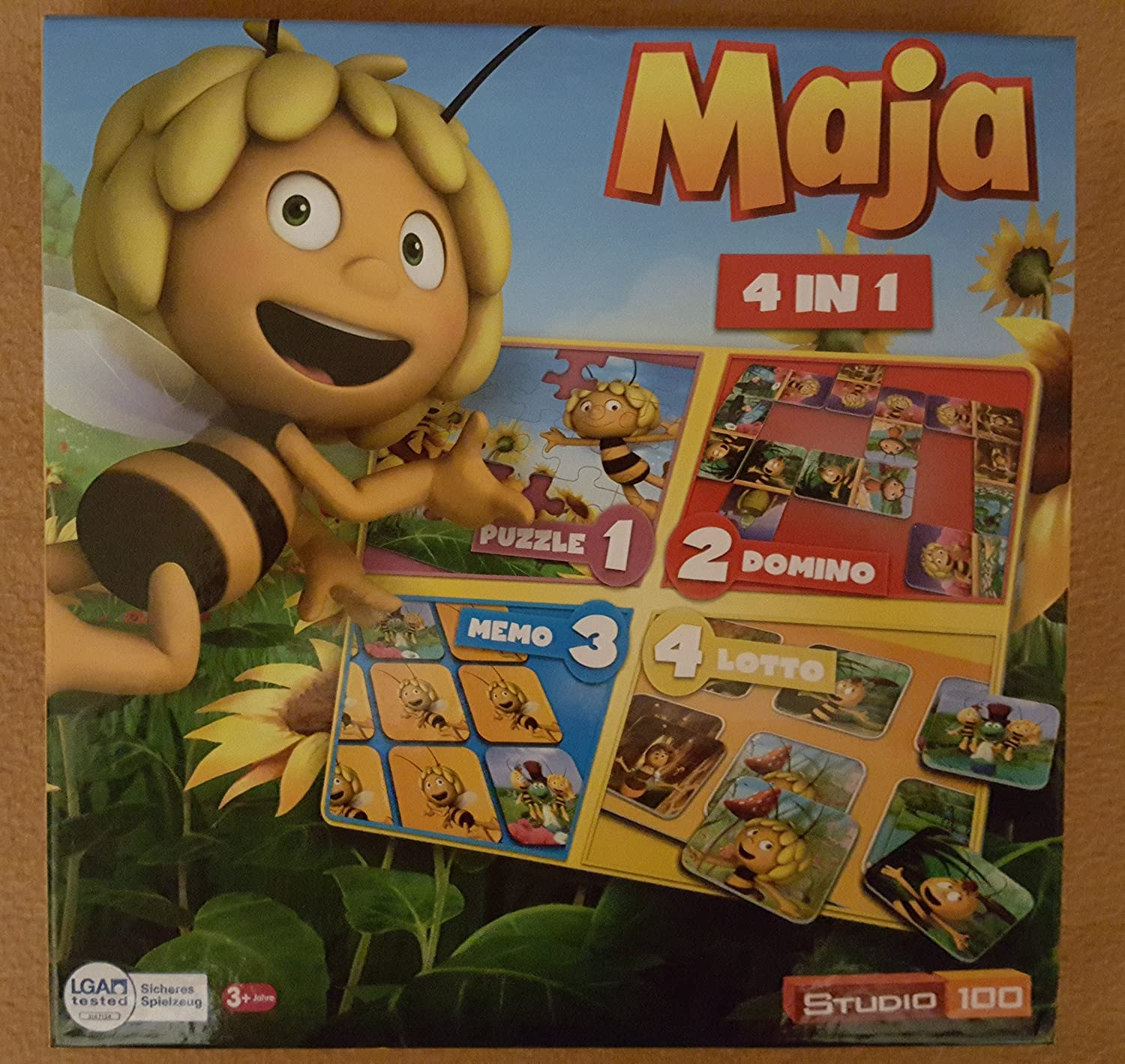 Biene Maja 4 in 1 Puzzle, Memo, Domino & Lotto Studio 100