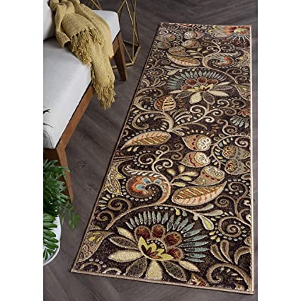 Amazon Com Alise Rugs Caprice Transitional Floral Runner Rug 2 3