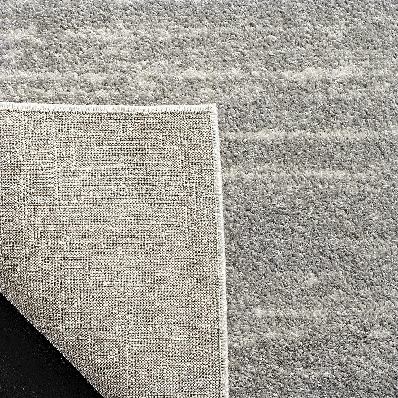 Woven Polypropylene Runner Carpet in Ivory Silver Safavieh Marius Area Rug 62 X 240 cm