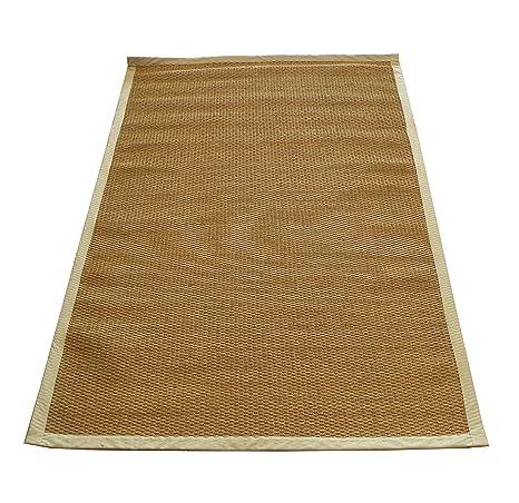 Stuoia tappeto in corda con bordi rifiniti in tessuto, antiscivolo ...