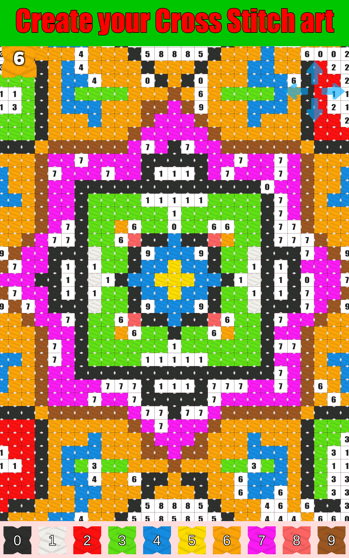 Stitch.io Coloring by Numbers Cross Stitch color game - com ...
