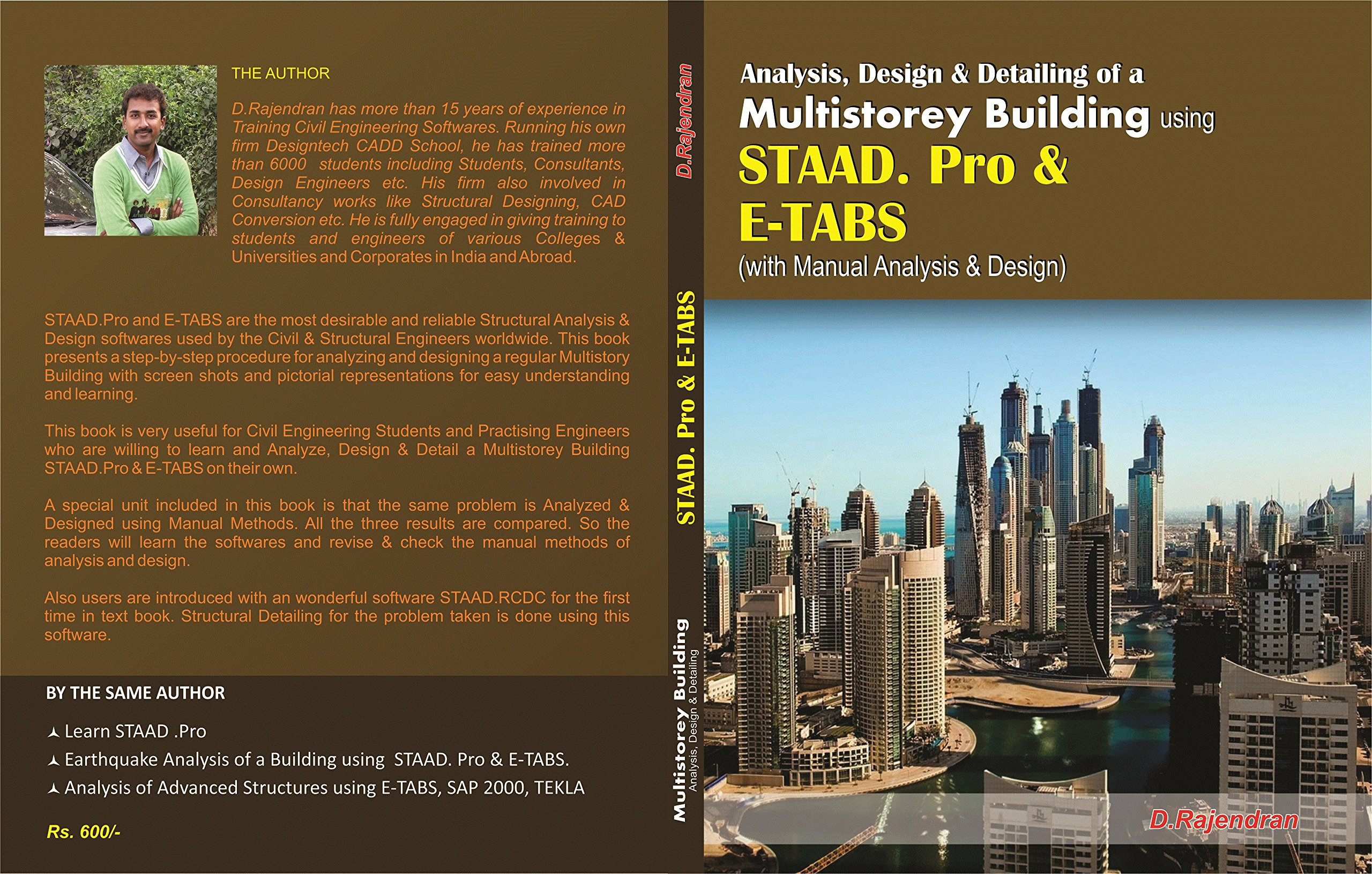 Buy Analysis Design Of A Multistorey Building Using Staad Pro E Tabs With Manual Calculation First Edition 2016 Book Online At Low Prices In India Analysis Design Of A