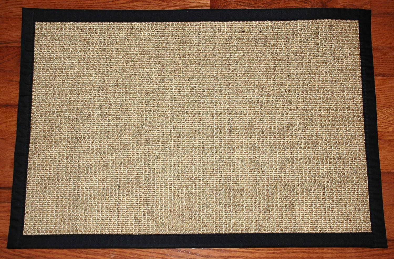 khaki size cm area custom usa itm sisal mats rugs lapped rug handmade natural color border mat and dubai made large