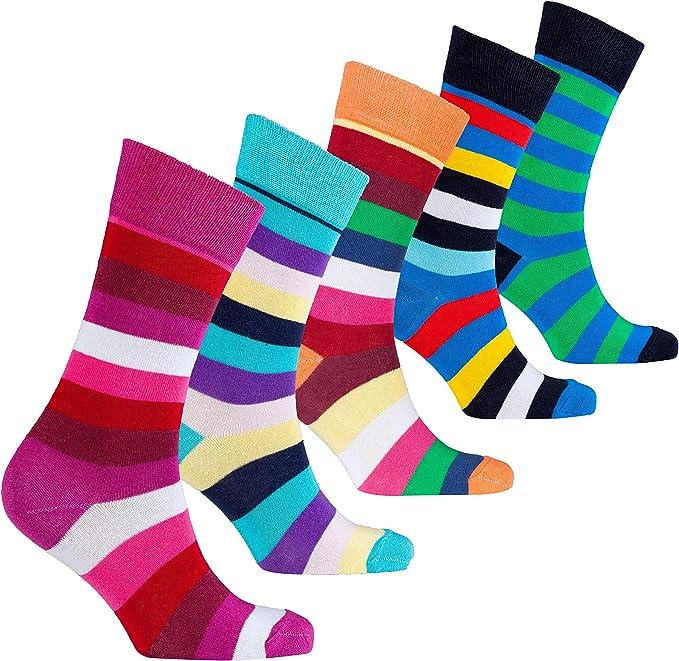 socks n socks Calcetines de algodón de colores para hombre - 5 ...