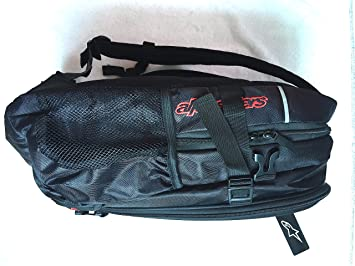 Saco Mochila ALPINESTARS negro y Logo Rojo promoción a fin de Stock (puerta casco + bolsa etanchéite Integre): Amazon.es: Deportes y aire libre