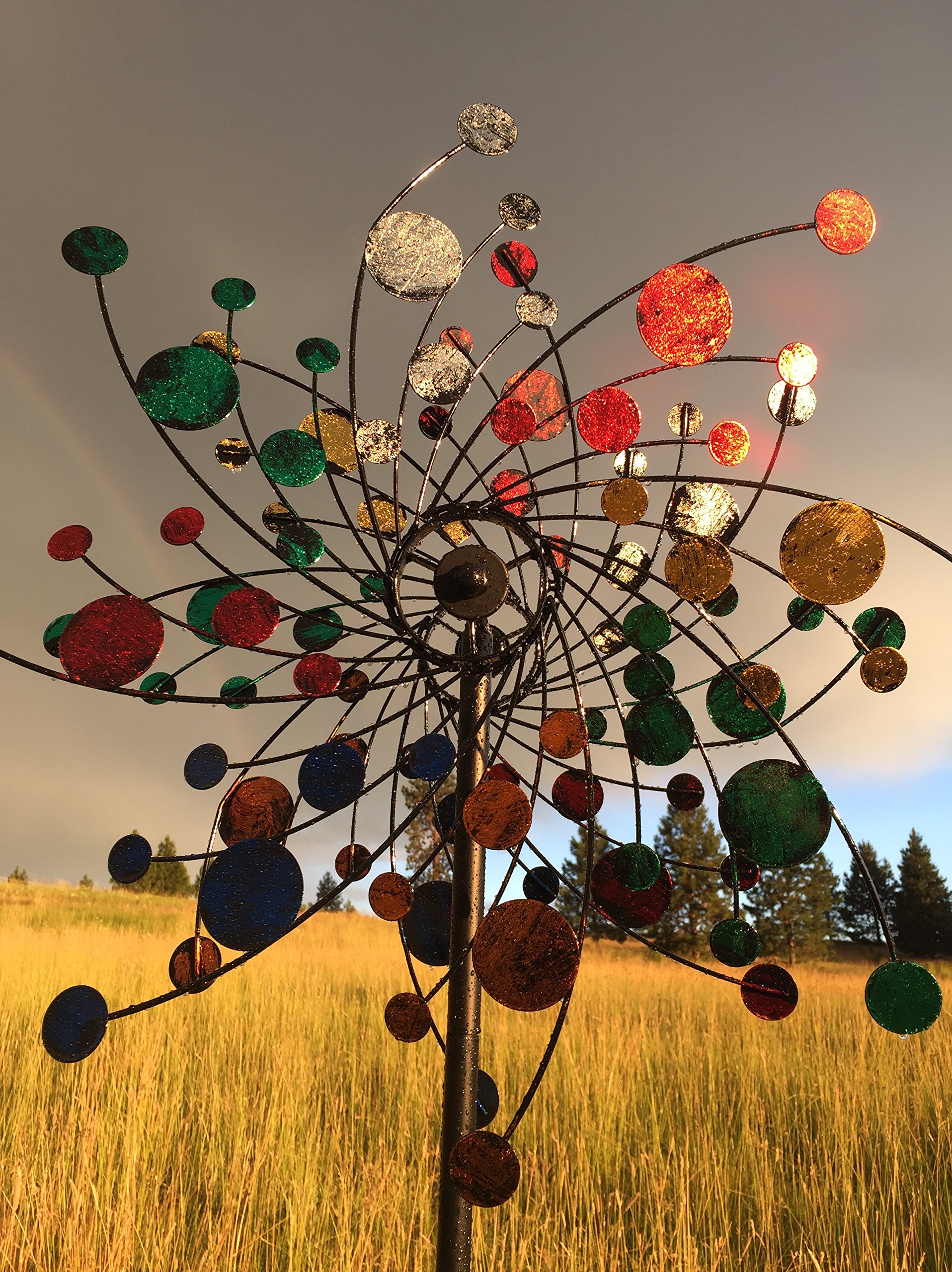 MJ Spinner Designs Confetti Style Kinetic Wind Garden Spinner