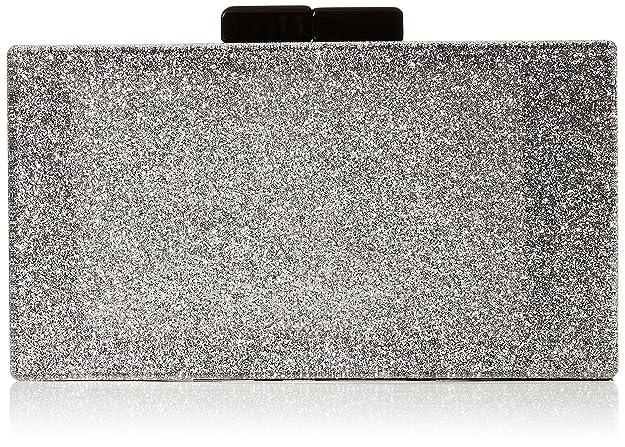 Quiz - Glitter Box Clutch Bag, Carteras de mano Mujer, Plateado (Silver), 5x10x18 cm (W x H L): Amazon.es: Zapatos y complementos
