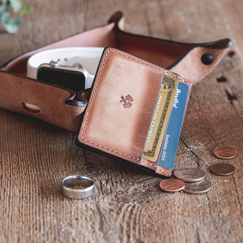 Amazon.com: Billetera delgada para hombre, fabricada en ...