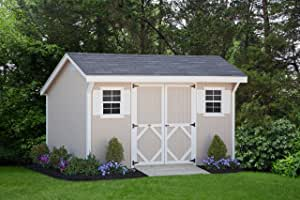 Little Cottage Company Classic Saltbox 8'x10' DIY Shed Kit