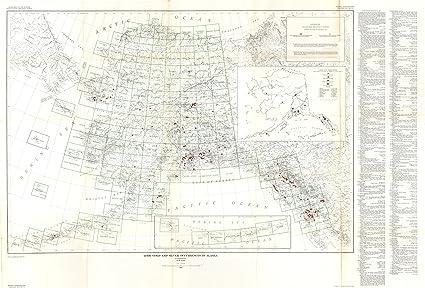 Amazon Com Alaska Mine Map Lode Gold Silver Usgs 1946 33 96