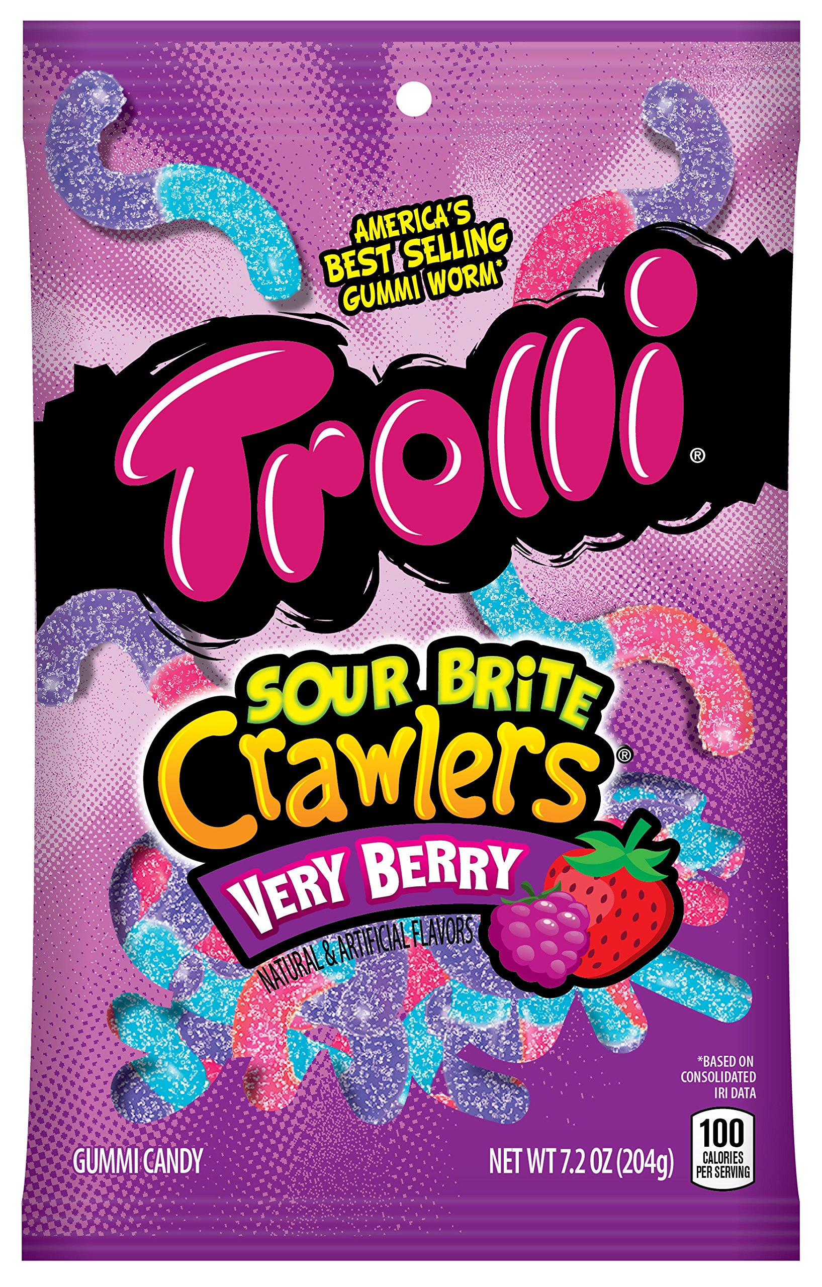 1a995d657dc Amazon.com   Trolli Sour Brite Crawlers Gummy Candy
