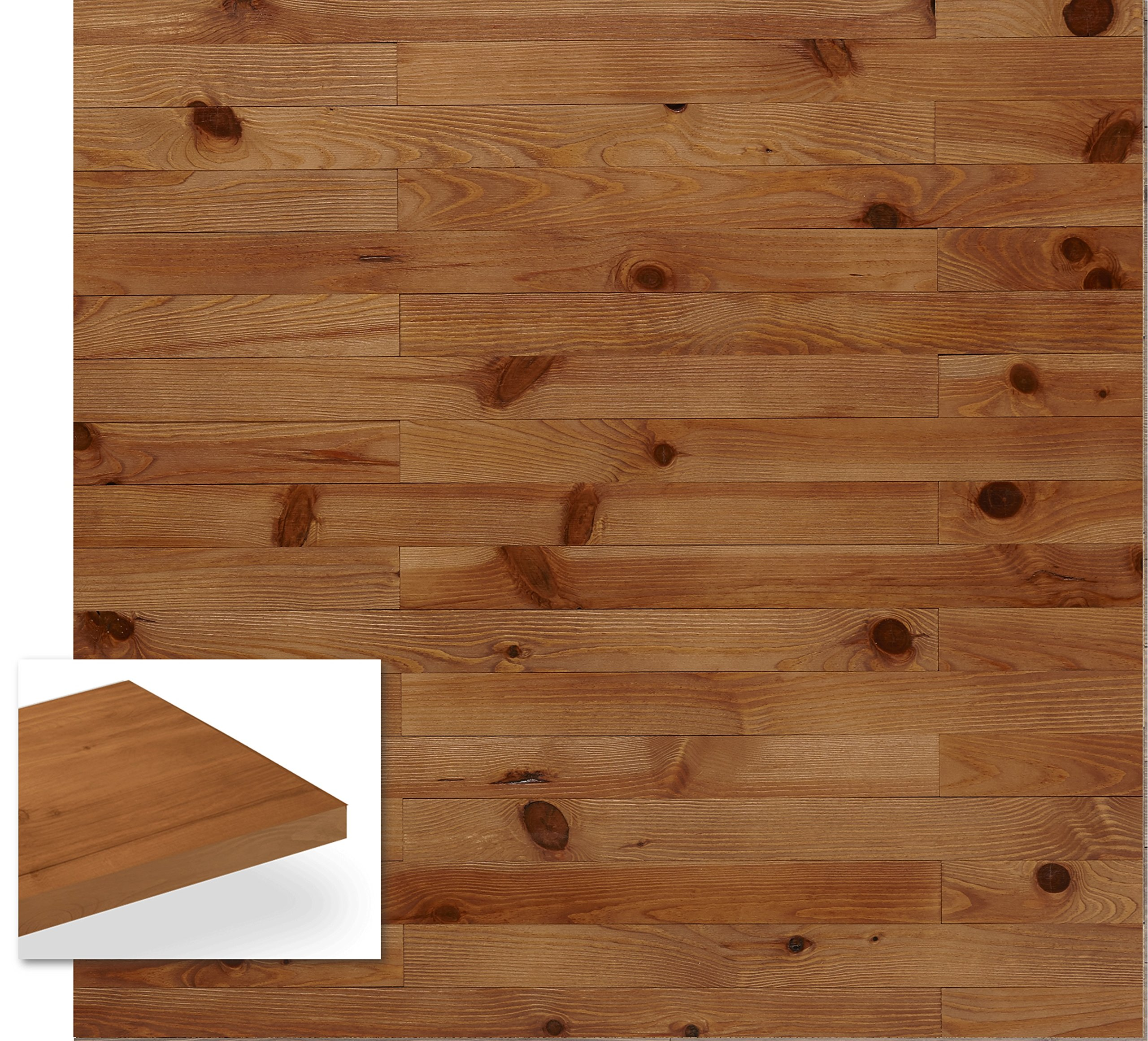 Timberwall - Nordic Collection Cool Breeze - DIY Solid Wood Wall Panel - Easy Peel and Stick Application - 10.8 Sq Ft