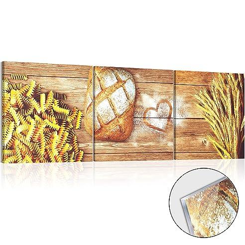 Murando – Acrylglasbild Pasta 120X40 Cm - Glasbilder - Wandbilder