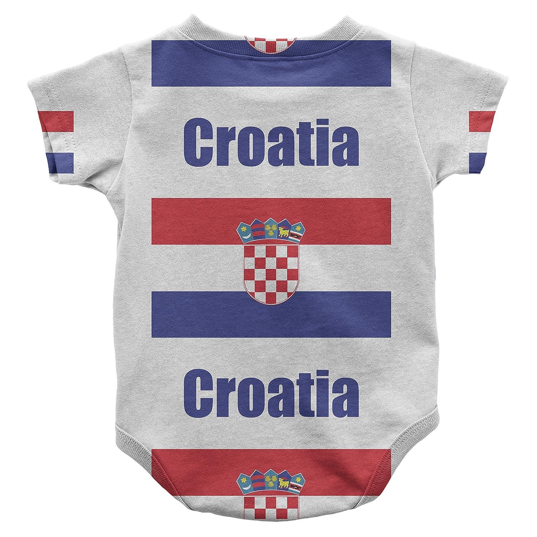 ba774ca5cad Amazon.com: Cute Rascals Croatia Country Flag Infant One Piece Snapsuit  Bodysuit 12 Months: Clothing