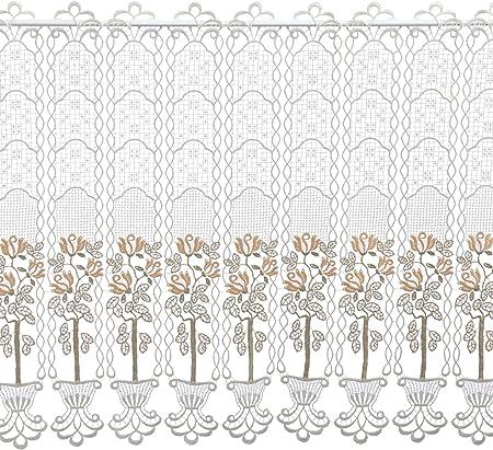Larghezza: 96 cm Mehrfarbig Altezza 62 cm Tendina Decorativa Multicolore Plauener Spitze by Modespitze