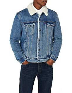 Levis¿ Mens Mens Type III Sherpa Trucker Jacket Mays Small ...