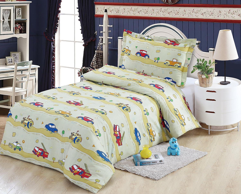 Boys car design single bedding set. 1 Duvet cover and 1 Pillow case Urban Home