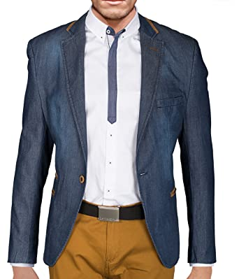 0966e8a061 BetterStylz Berto Herren Jeans Sakko Jackett Blazer Freizeit Buisiness  Jacke Slimfit Größen (48-58