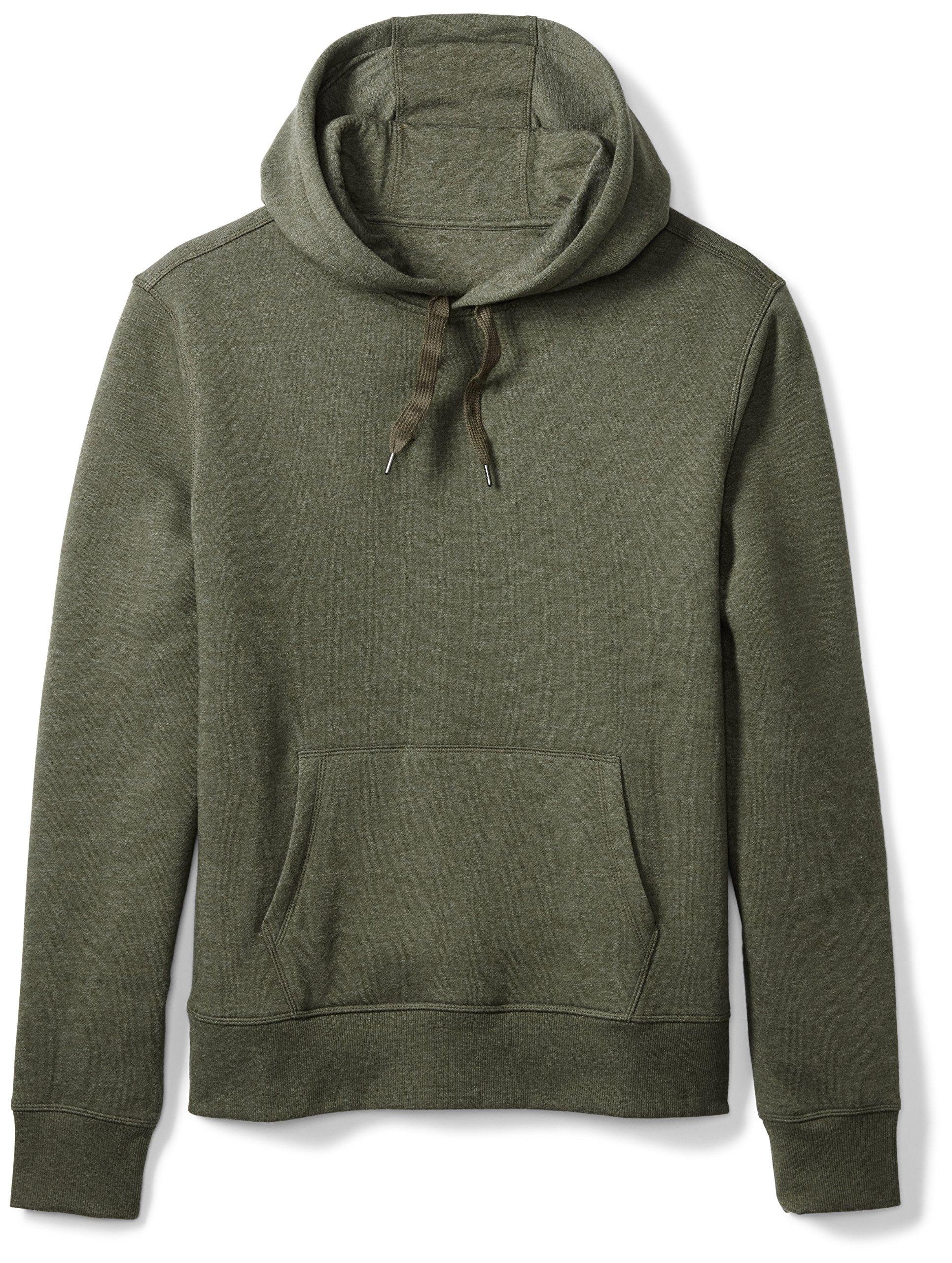 Amazon Essentials Men's Hooded Fleece Sweatshirt, Olive Heather, Medium