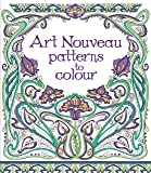 Art nouveau patterns to colour