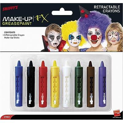 Smiffys 37803 Déguisement Crayons de Maquillage Mine Rétractable Lot de 8, Multicolore, Taille Unique